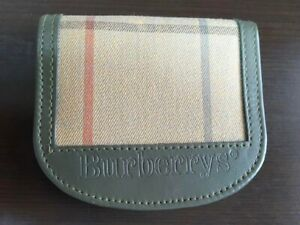 Vintage Burberry Wallet Purse Coin Purse from JAPAN