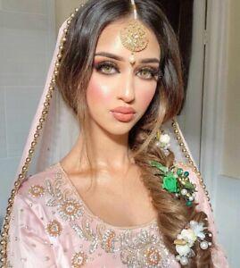 Indian Pakistani Bollywood Gold Headpiece Mang Tikka Teeka Jhummar Hair Chain UK
