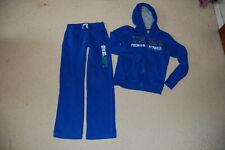 Jogginganzug Sweat Sport blau Kapuze Gr. 146/152