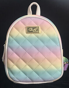 """💋Luv Betsey By Betsey Johnson Quilted Mini Backpack Bag 8""""H x 6""""W x 3""""D NWOT"""