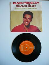 """Elvis Presley Wooden Heart / Tonight Is So Right For Love UK 1977 RCA 7"""" Single"""