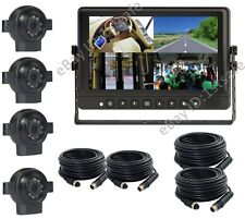 """9"""" DIGITAL WIRED QUAD LCD MONITOR+4 SIDE VIEW CAMERAS, REVERSE REAR VIEW SYSTEM"""