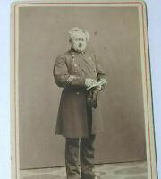 Vintage cdv photo sepia image man in uniform antique Christiania Claus Knudsen!