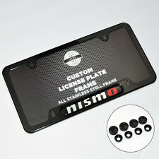 Car Nismo Front Rear Black Metal License Plate Frame Cover Gift Accessories