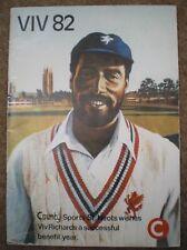 Viv Richards 1982 Testimonial Cricket Programme Benefit Brochure West Indies '82