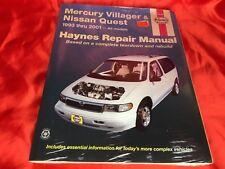 Mercury Villager Nissan Quest 1993-01 Haynes Guide Shop Manual Service Repair