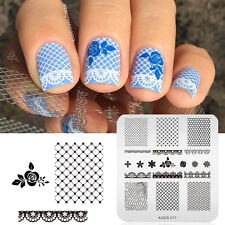 KADS Flowers & Lace Design Nail Print Stamp Plates Nail Art Template
