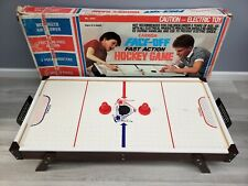 Carrom Face-Off Fast Action Air Hockey Game- Electric- In Box- Vintage