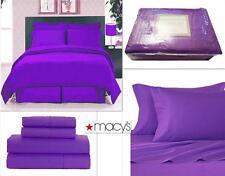 New California King 4 Pz Sheet Set Soft Microfiber Purple New in Package, Great!