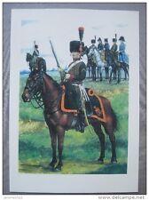 affiche : Officier chasseur à cheval 1809 de la garde impériale de Napoléon