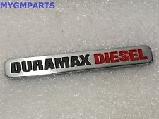 "SILVERADO SIERRA RED/ CHROME ""DURAMAX DIESEL"" DOOR EMBLEM 2001-2007 NEW 22884136"