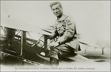 Military: French Lieutenant Flying Ace Aviator René Fonck, World War 1 Airplane.