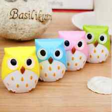 Cute Kid Stationery Mini Kawaii Owl Pattern Pencil Eye Pen Pencil Sharpener AHY