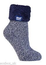 Heat Holders - Ladies Soft Fluffy Thermal Low Cut Lounge Bed SLIPPER Socks Hhl06