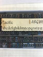 18 Pt Pacific Ornamental Caps, Lowercase & Numbers. Metal Type Letterpress