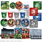 Marvel AVENGERS ASSEMBLE Boys Birthday Party Tableware Plates Cups Napkins