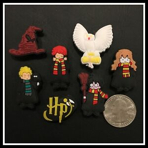 Set of 7 Shoe Charms for Crocs HARRY POTTER Hedwig Ron Hermione Malfoy