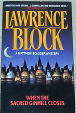 Lawrence Block WHEN THE SACRED GINMILL CLOSES (paperback)