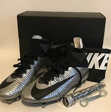 Nike Mercurial Superfly V Ronaldo Silver Soccer Cleats Boots Size 7.5 NEW FLAW