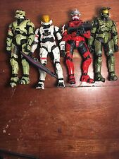 Set of 4 Halo Spartan Action Figures - GOOD condition