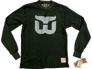 Hartford Whalers Retro Brand Green Lightweight Waffle Pullover T-Shirt (S)