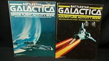 Vintage 1978 Battlestar Galactica Activity Book SET ADVENTURE & SPACE FLIGHT