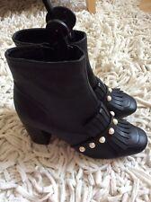 Primark Perlas y flecos Botas Zapatos Talla Uk 7 EUR 40-41 Nuevo con etiquetas!