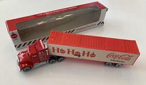 "Coca Cola Santa Claus Christmas Toy Truck Holidays 7"" Model #BeSanta New"