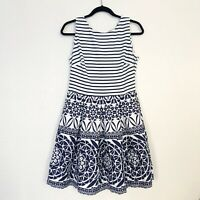 Taylor Pleated Fit and Flare Dress Size 8