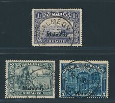 MALMEDY 1920, Mi. 11-13 A gestempelt, Franc-Werte!! Tadellos!! Mi. 210,--!!