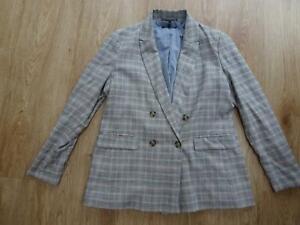 NEXT emma willis collection ladies multi check smart / casual blazer jacket 18
