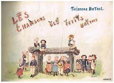 Les Chansons des Petits Bretons BOTREL Ondet 1902 illustré Jacquier