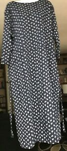 Vermont Country Store 3/4 Sleeve Floral Print Dress