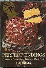 NESTLE'S CHOCOLATE Cookbook PERFECT ENDINGS Desserts Beverages FREE SHIPPING