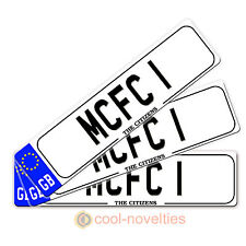 "MINI NOVELTY NUMBER PLATE / BOOKMARK GIFT "" MCFC 1 "" PERFECT FOR FOOTBALL FANS"