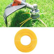 Rollo de 2,4mm x 100m Hilo de Nylon para Desbrozadora Linea Amarillo Universal