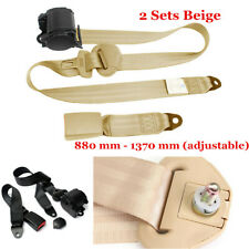 2X Car Seat Belt Lap 3 Point Safety Travel Adjustable Automatic Retractable