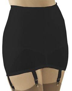 Cortland Shapewear Open 6 Strap Black Garter Girdle Plus Size 50/10XL