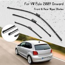 Front Rear Windscreen Wiper Blades For VW Polo 2009 - 2014 Hatchback 3/5 door