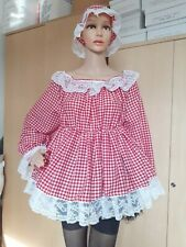 Sissy,Adult Baby, Dress Diaper Lover,ABDL,  Petticoat,Gingham,Check,Checked