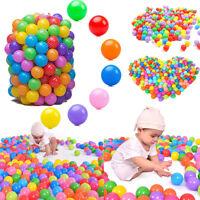 100 x Safty Secure Baby Kid Pit Toys Swim Colorful Soft Plastic Ocean Ball 5.5CM