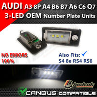 AUDI 3 SMD OEM A3 S3 8P PLATE SLINE QUATTRO NUMBER PLATE LED UNIT MODULE WHITE
