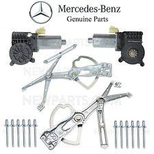 For Mercedes W163 ML Pair of 2 Front Window Regulators & Motors 12 Rivets Kit