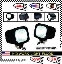 2pcs 55W 24V HID Xenon Work Light Flood Lamp for Truck ATV Offroad Fog Driving