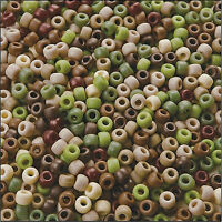 100 or 500 Mixed Camouflage Pony Beads,FOR DUMMY CLIPS,HAIR BRAIDING (PB9M-CAM)