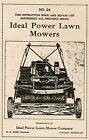 Ideal Power Gas Engine Lawn Mowers REO Olds Hit Miss Hit Miss Motor Book Manual