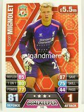 Match Attax 2013/14 Premier League - #145 Simon Mignolet - Liverpool