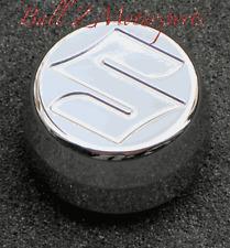 """06-07 2006-2007 GSXR 600/750 Chrome Engraved """"S"""" Yoke Center Stem Cap Cover!!!!"""