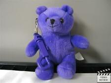 Britney Spears plush purple bear clip-on pal; Applause tagless