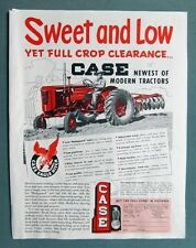 Original 1953 Case 2 Plow Tractor Ad SWEET AND LOW YET FULL CROP CLEARANCE